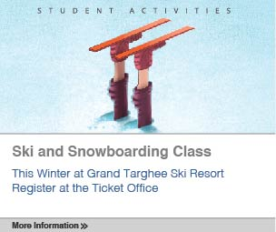 Ski and Snowboarding Class: This Winter at Grand Targhee Ski Resort. Register at the Ticket office